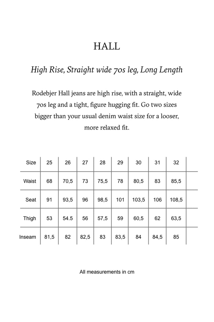 Rodebjer denim size guide