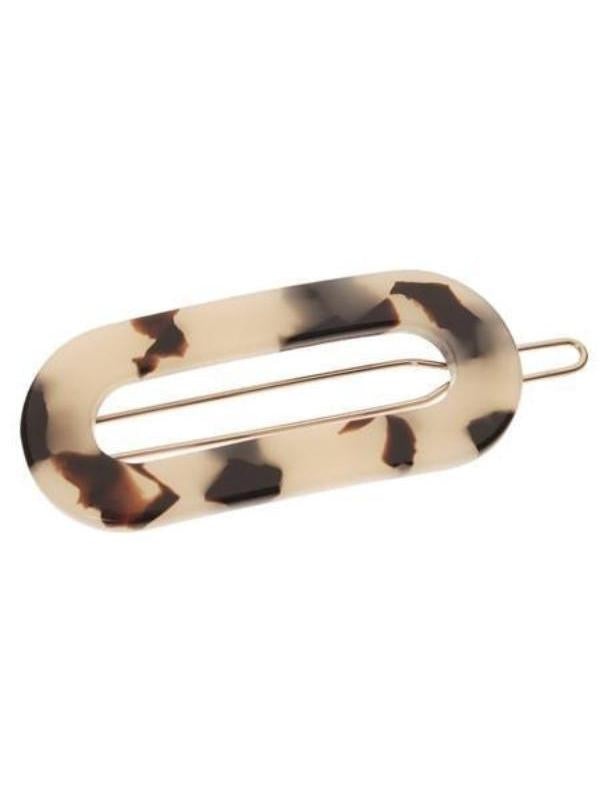 Mini Oval Tige Boule Barrette