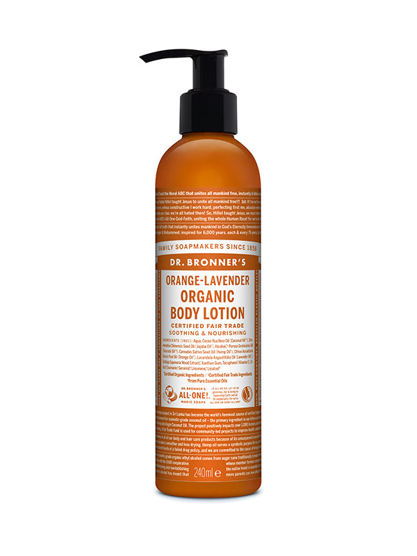 Organic Body Lotion - Orange/Lavender