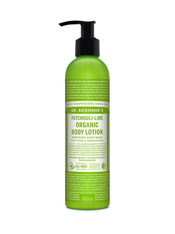 Organic Body Lotion - Patchouli/Lime