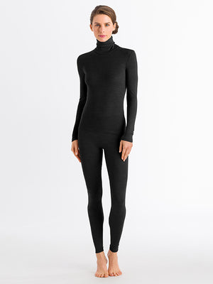 Woolen Silk Turtleneck