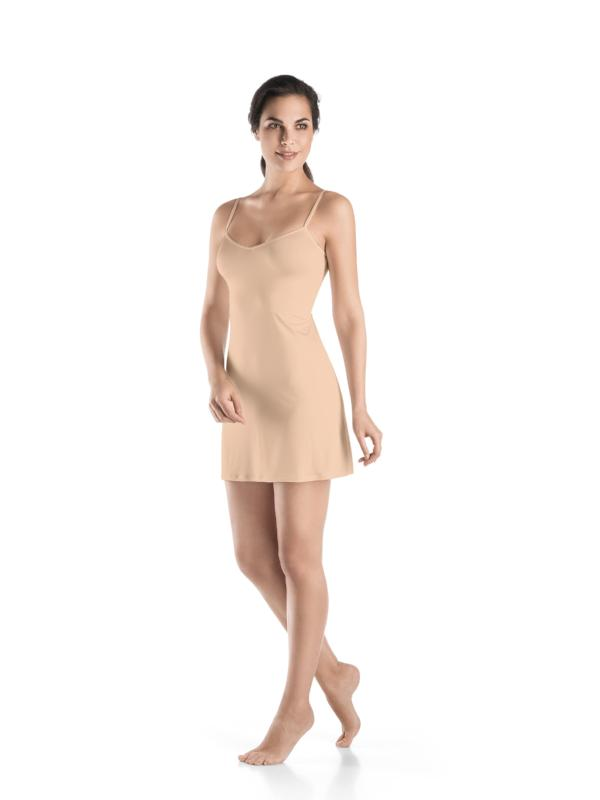 Satin Deluxe Body Dress 'Neutral'