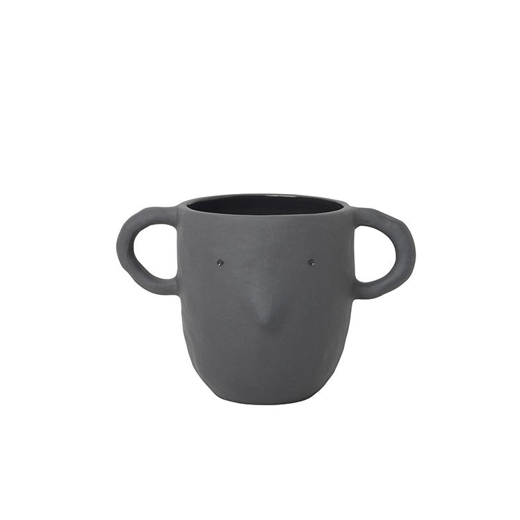 Ferm Living Mus Plant Pot Large: Dark Grey - The Union Project
