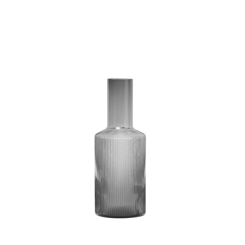 Ferm Living Ripple Carafe: Smoked Grey