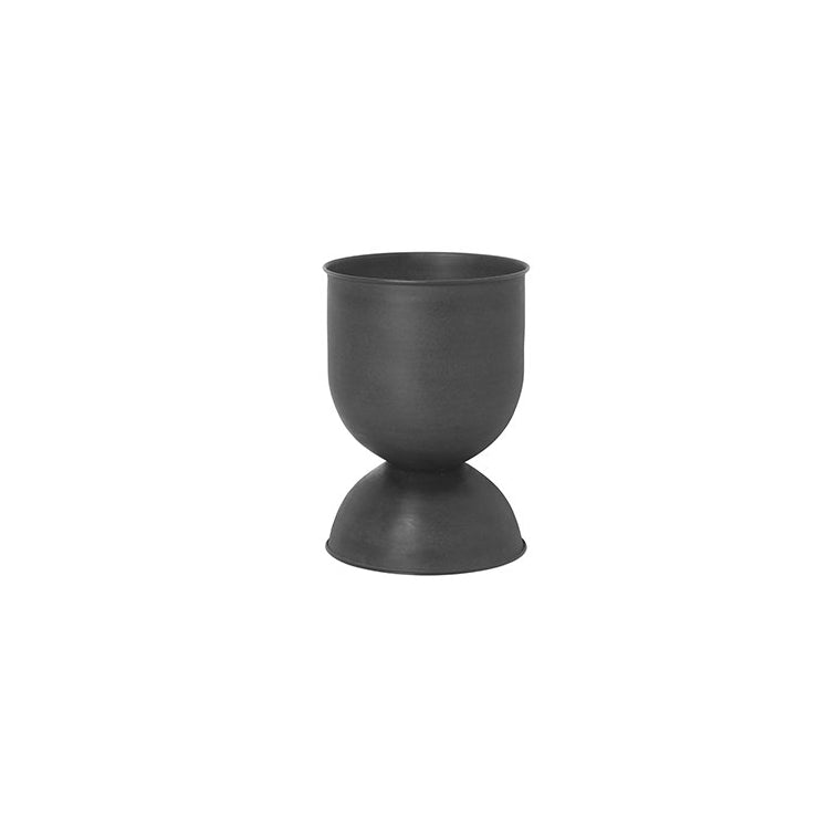 Ferm Living Hourglass Pot Small: Black/Dark Grey - The Union Project