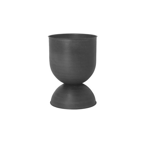 Ferm Living Hourglass Pot Medium: Black/Dark Grey
