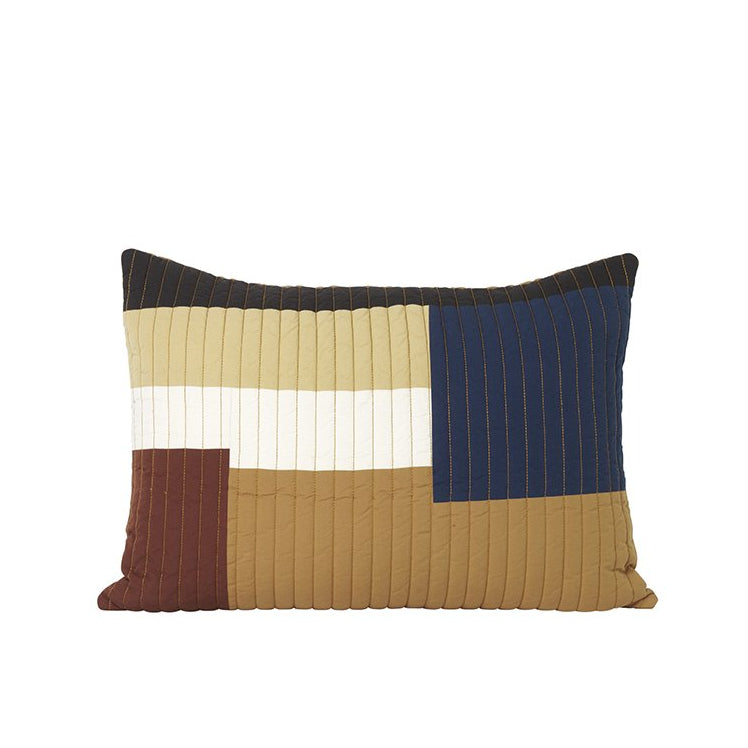 Ferm Living Shay Quilt Cushion 60x40: Mustard - The Union Project