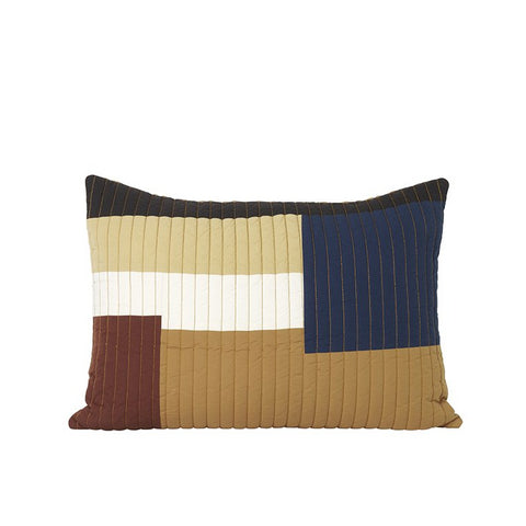 Cushions + Blankets Ferm Living Shay Quilt Cushion 60x40: Mustard - The Union Project, Cheltenham, free delivery