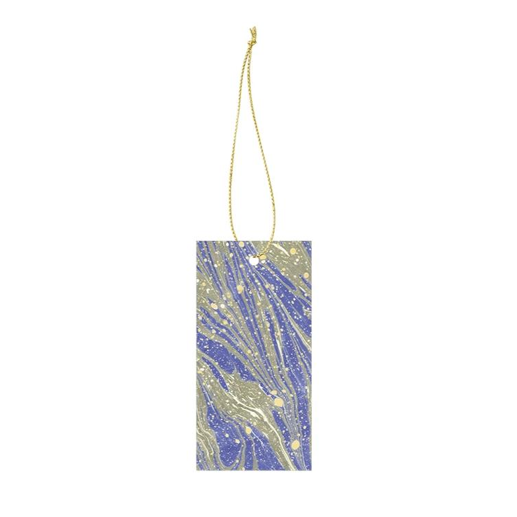 Ferm Living Marbling Gift Tags: Bright Blue (Set of 6) - The Union Project