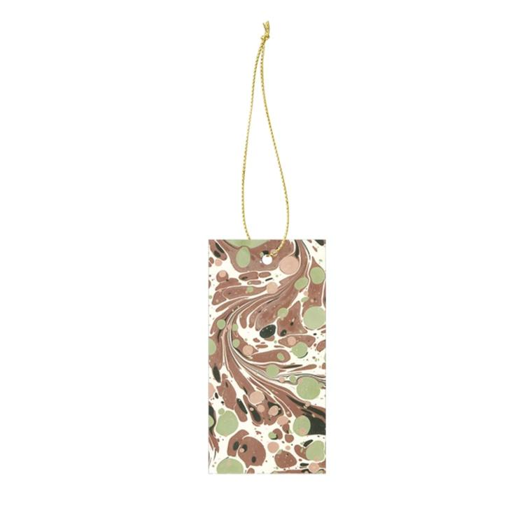 Ferm Living Marbling Gift Tags: Rust (Set of 6) - The Union Project