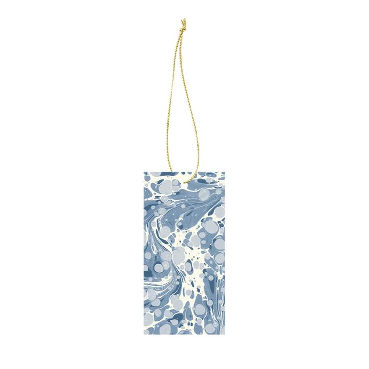 Ferm Living Marbling Gift Tags: Dusty Blue (Set of 6) - The Union Project
