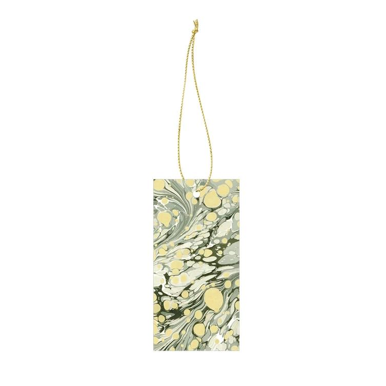 Ferm Living Marbling Gift Tags: Green (Set of 6) - The Union Project