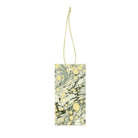 Stationary Ferm Living Marbling Gift Tags: Green (Set of 6) - The Union Project, Cheltenham, free delivery