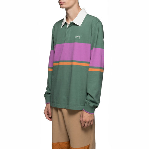 Stussy Justin Rugby Shirt: Green