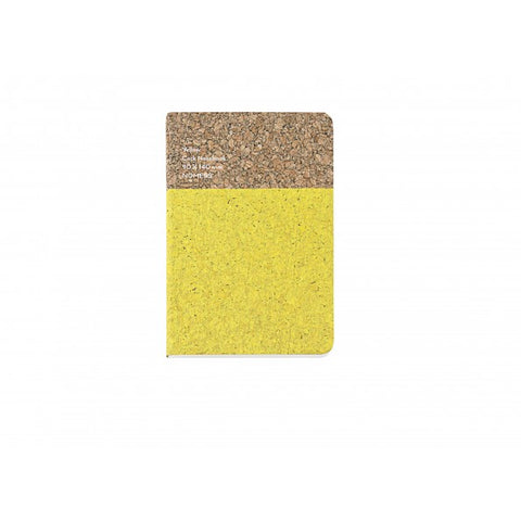 Stationary Cork Notebook (Small): Yellow - The Union Project