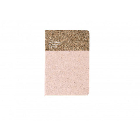 Stationary Cork Notebook (Small): Nude - The Union Project