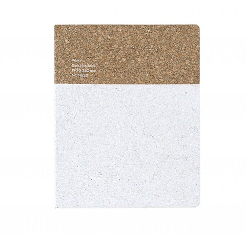 Stationary Cork Notebook (Large): White - The Union Project
