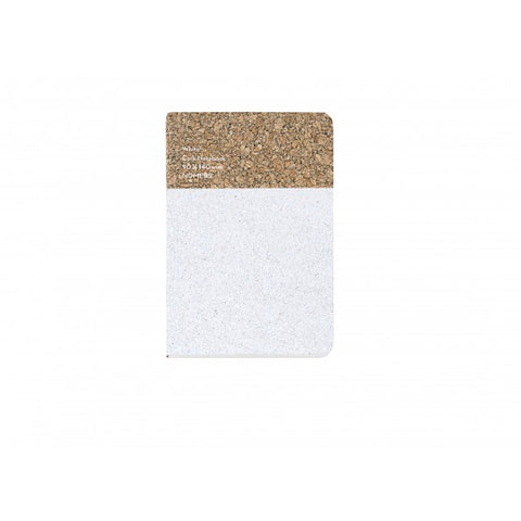 Stationary Cork Notebook (Small): White - The Union Project