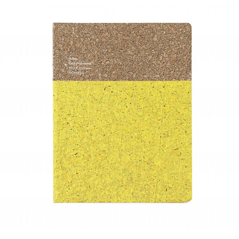 Stationary Cork Notebook (Large): Yellow - The Union Project
