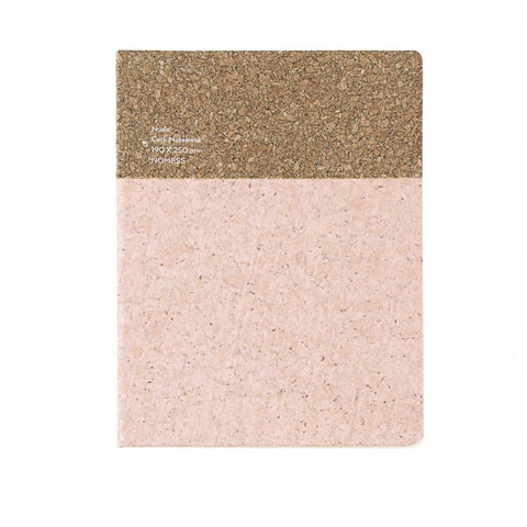 Stationary Cork Notebook (Large): Nude - The Union Project