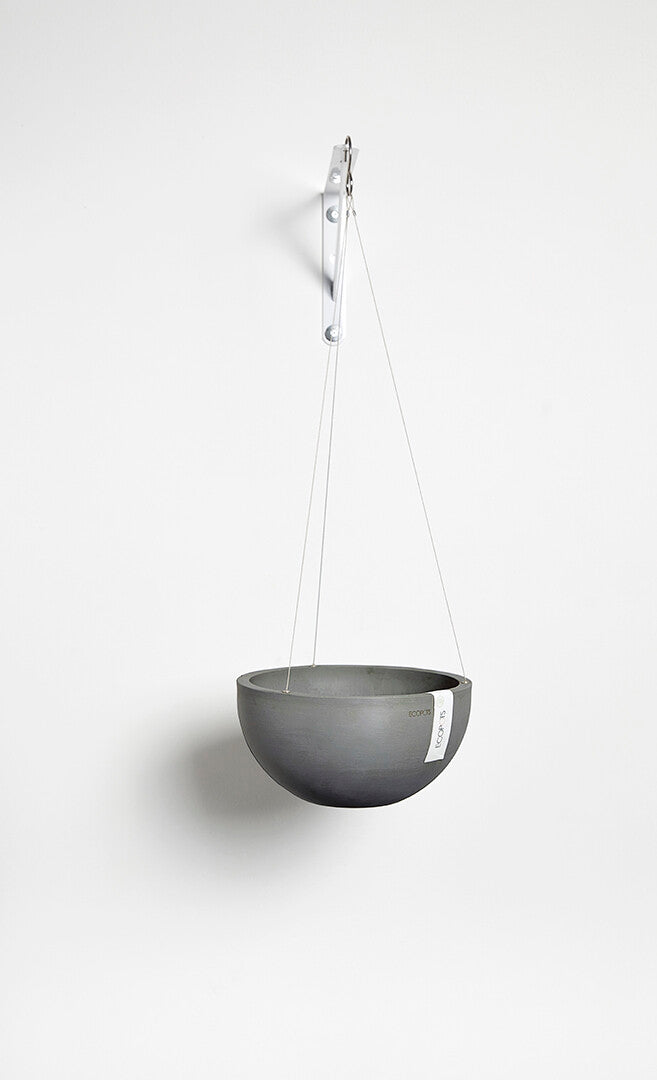Ecopots Hanging Brussels Pot (27cm): Grey - The Union Project
