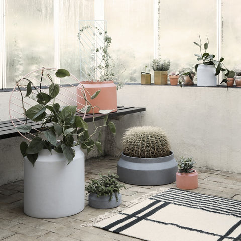 Ferm Living Pot Large: Light Grey