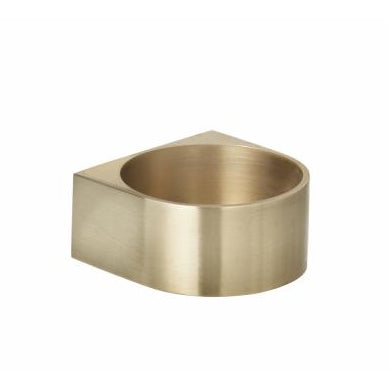 Home Fragrance + Candle Holders Block Candle Holder Large: Brass - The Union Project