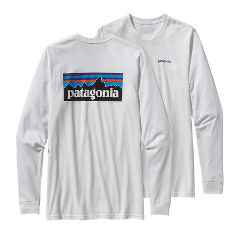 T-Shirts Patagonia Longsleeve P-6 Logo Tee: White - The Union Project, Cheltenham, free delivery