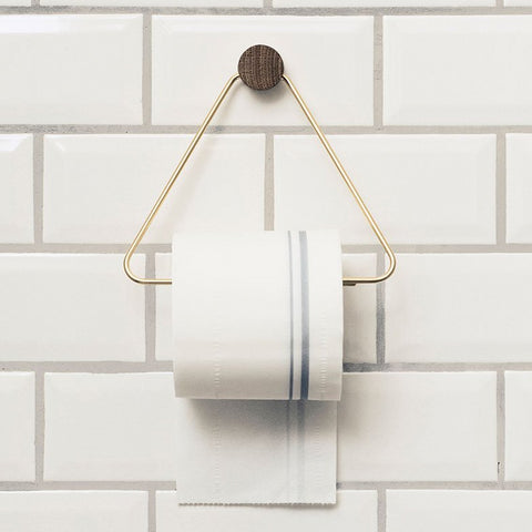 Toilet Paper Holder: Brass