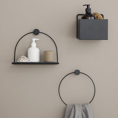 Towel Hanger: Black