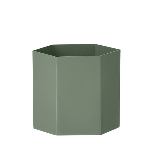 Plant Pots & Vases Hexagon Pot Large: Dusty Green - The Union Project