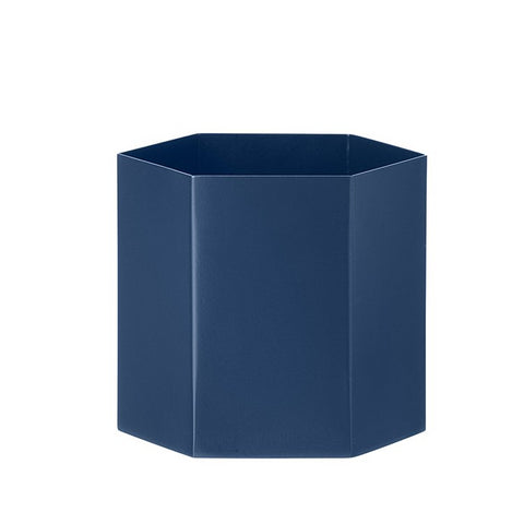 Ferm Living Hexagon Pot L: Dark Blue