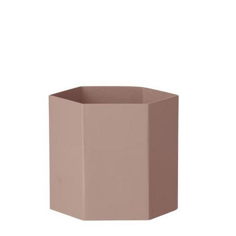 Plant Pots & Vases Hexagon Pot Large: Rose - The Union Project