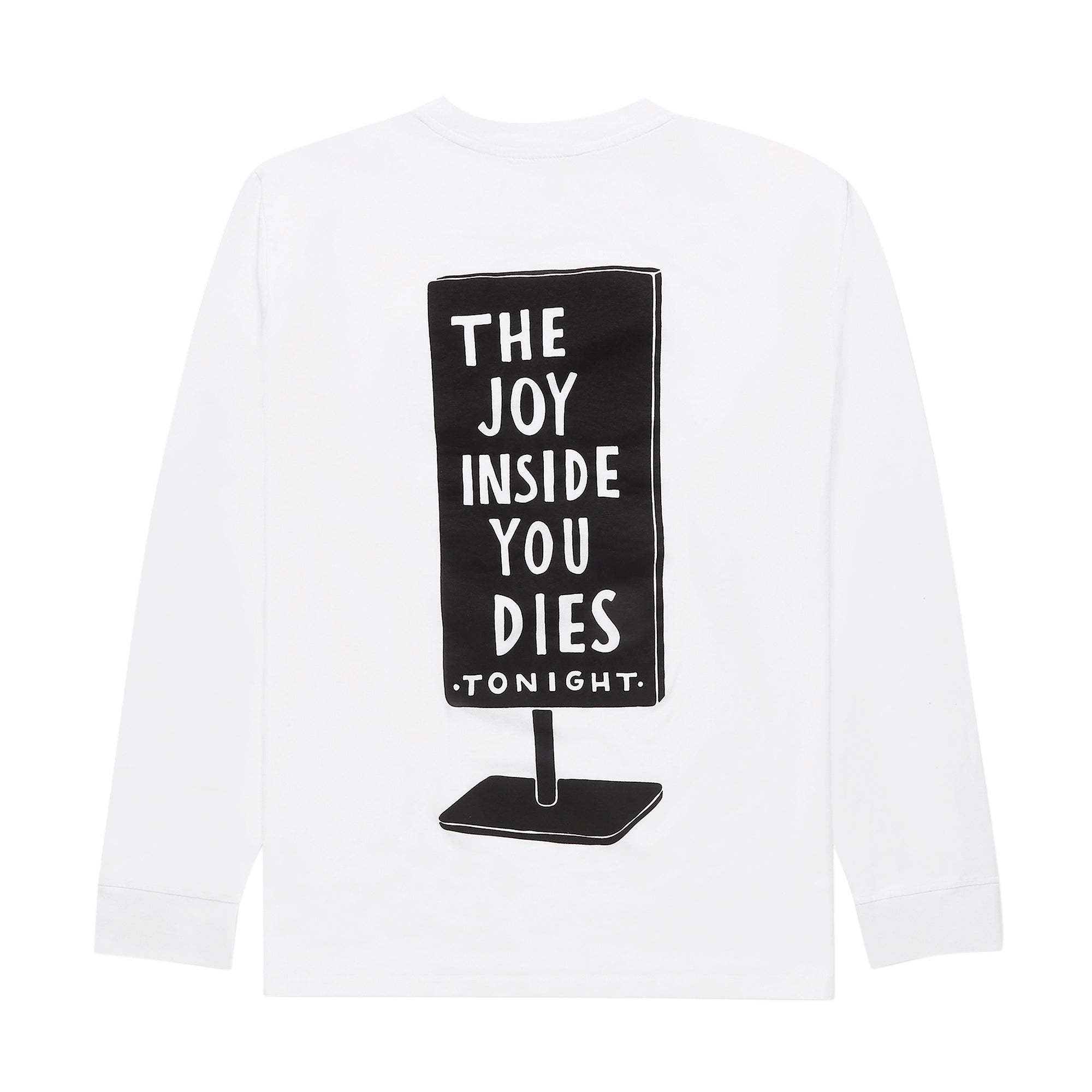 Parra Joy Inside Long Sleeve T-Shirt: White - The Union Project