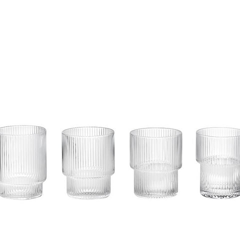 Glassware Ripple Glass (set of 4) - The Union Project
