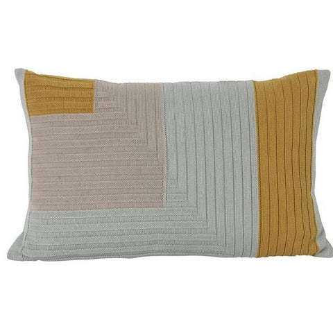 Cushions + Blankets Angle Knit Cushion: Curry - The Union Project