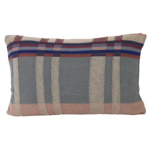 Ferm Living Medley Knit Cushion Large: Dusty Blue