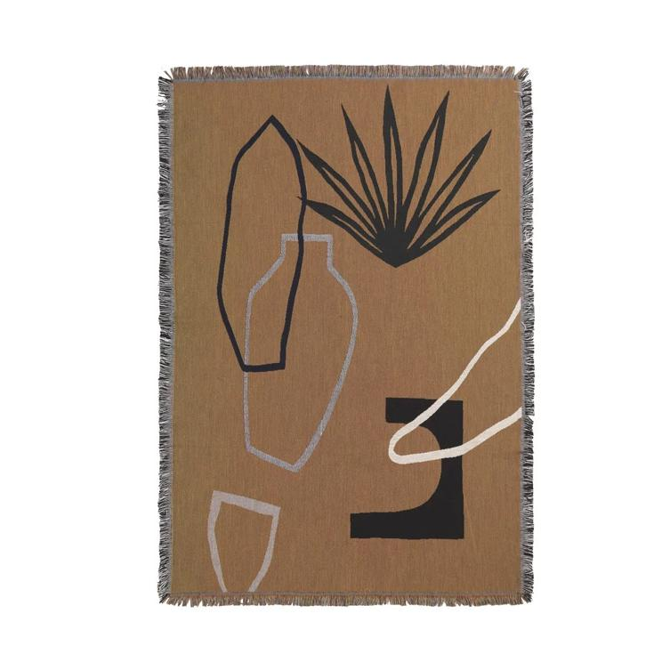 Ferm Living Mirage Blanket: Mustard - The Union Project
