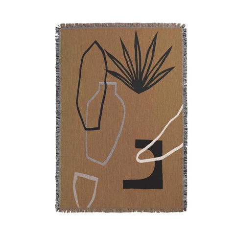 Ferm Living Mirage Blanket: Mustard