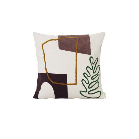 Ferm Living Mirage Cushion: Leaf