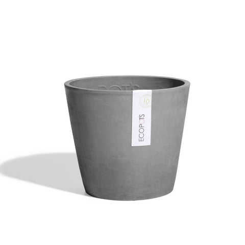 Plant Pots + Vases Ecopots Amsterdam Pot Small (20cm): Grey - The Union Project, Cheltenham, free delivery