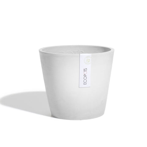 Plant Pots + Vases Ecopots Amsterdam Pot Small (20cm): White Grey - The Union Project, Cheltenham, free delivery