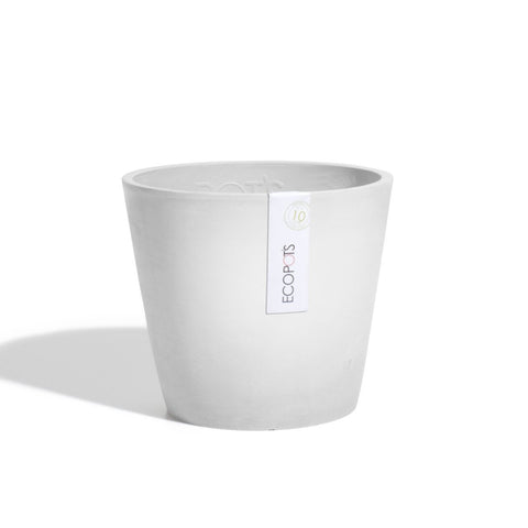 Plant Pots + Vases Ecopots Amsterdam Pot Medium (30cm): White Grey - The Union Project, Cheltenham, free delivery