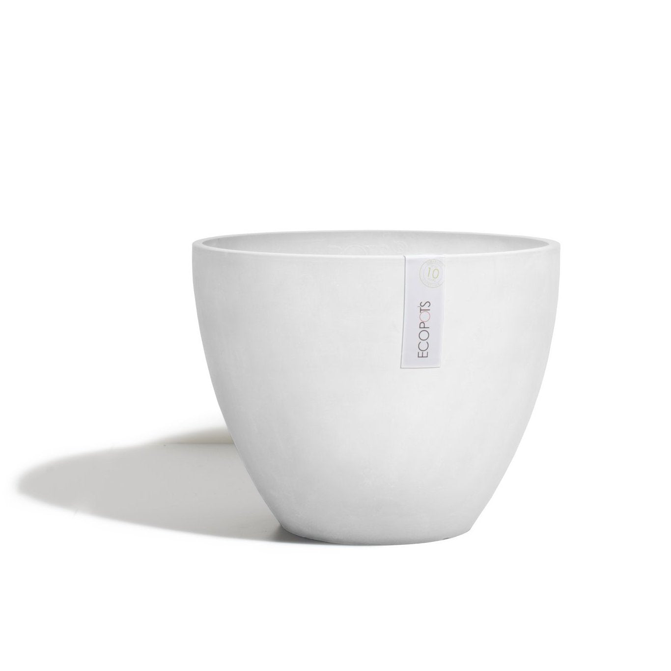 Ecopots Antwerp Pot Medium (30cm): White Grey - The Union Project