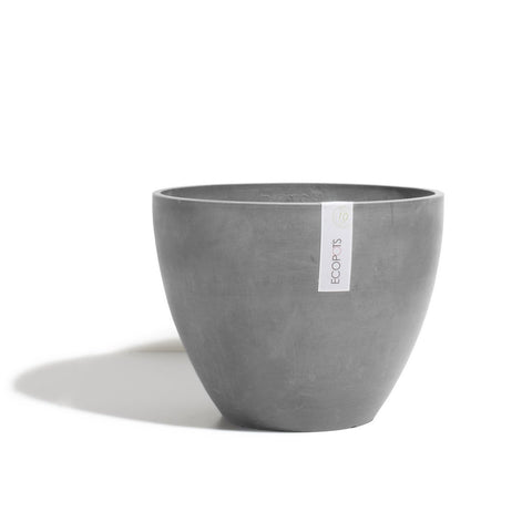 Ecopots Antwerp Pot Medium: Grey