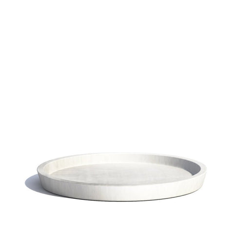 Plant Pots + Vases Ecopots Saucer for Amsterdam Pot Small: White Grey - The Union Project, Cheltenham, free delivery