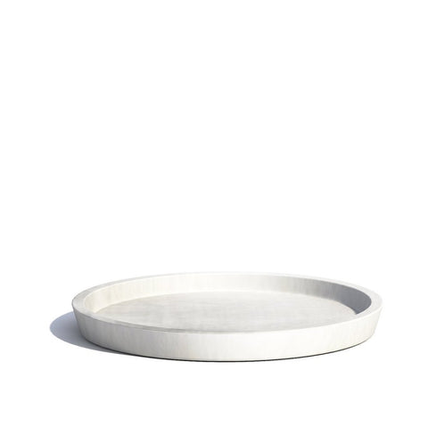 Plant Pots + Vases Ecopots Saucer for Amsterdam Pot Large (40cm): White Grey - The Union Project, Cheltenham, free delivery