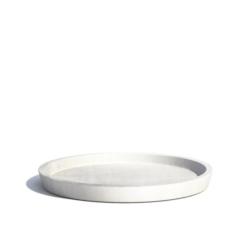 Plant Pots + Vases Ecopots Saucer for Amsterdam Pot Medium (30cm): White Grey - The Union Project, Cheltenham, free delivery