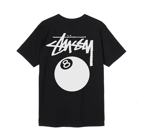 Stussy 8 Ball Pig. Dyed T-Shirt: Black