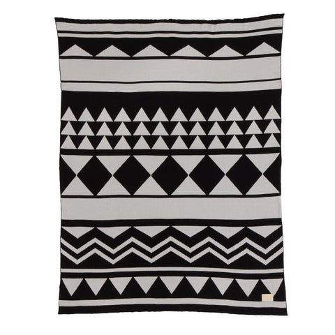 Cushions + Blankets Inka Blanket: Black - The Union Project